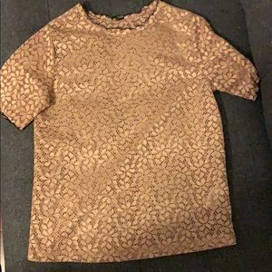 Gold blouse from Zara